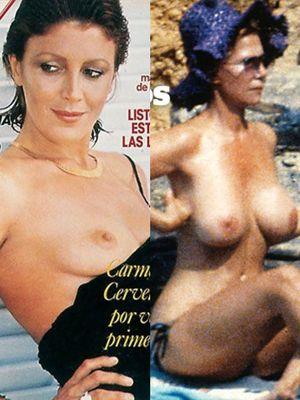 Cayetana Alba y Tita Cervera, unidas por un desnudo