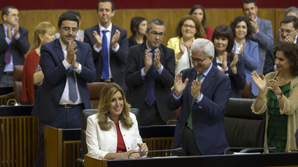 Foto: Susana Díaz durante el debate de investidura celebrado hoy en Andalucía (EFE)