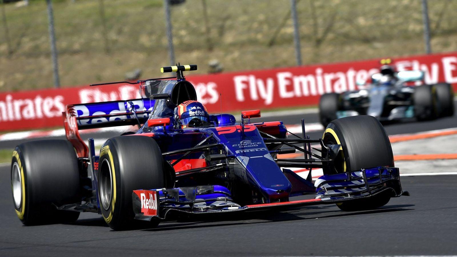 Foto: Sainz, al volante del Toro Rosso en Hungaroring. (EFE)
