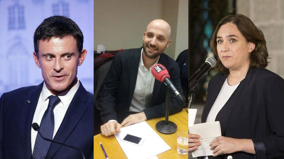 Foto: Montaje en el que aparecen Manuel Valls, Joan Graupera y Ada Colau.