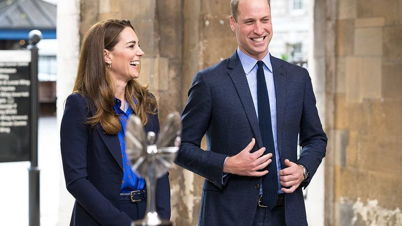 Los duques de Cambridge, en el acto. (PA)