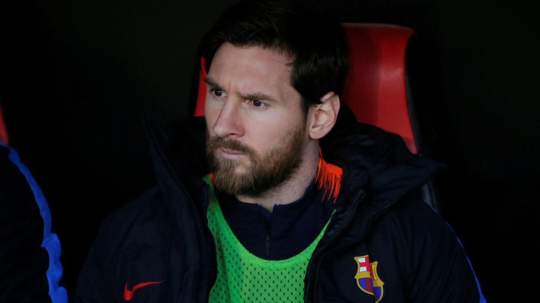 Leo Messi comenzó el partido desde el banquillo. (Reuters)