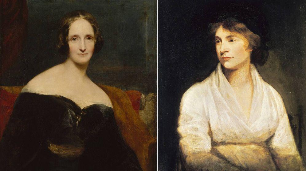 Foto: Mary Shelley y Mary Wollstonecraft.