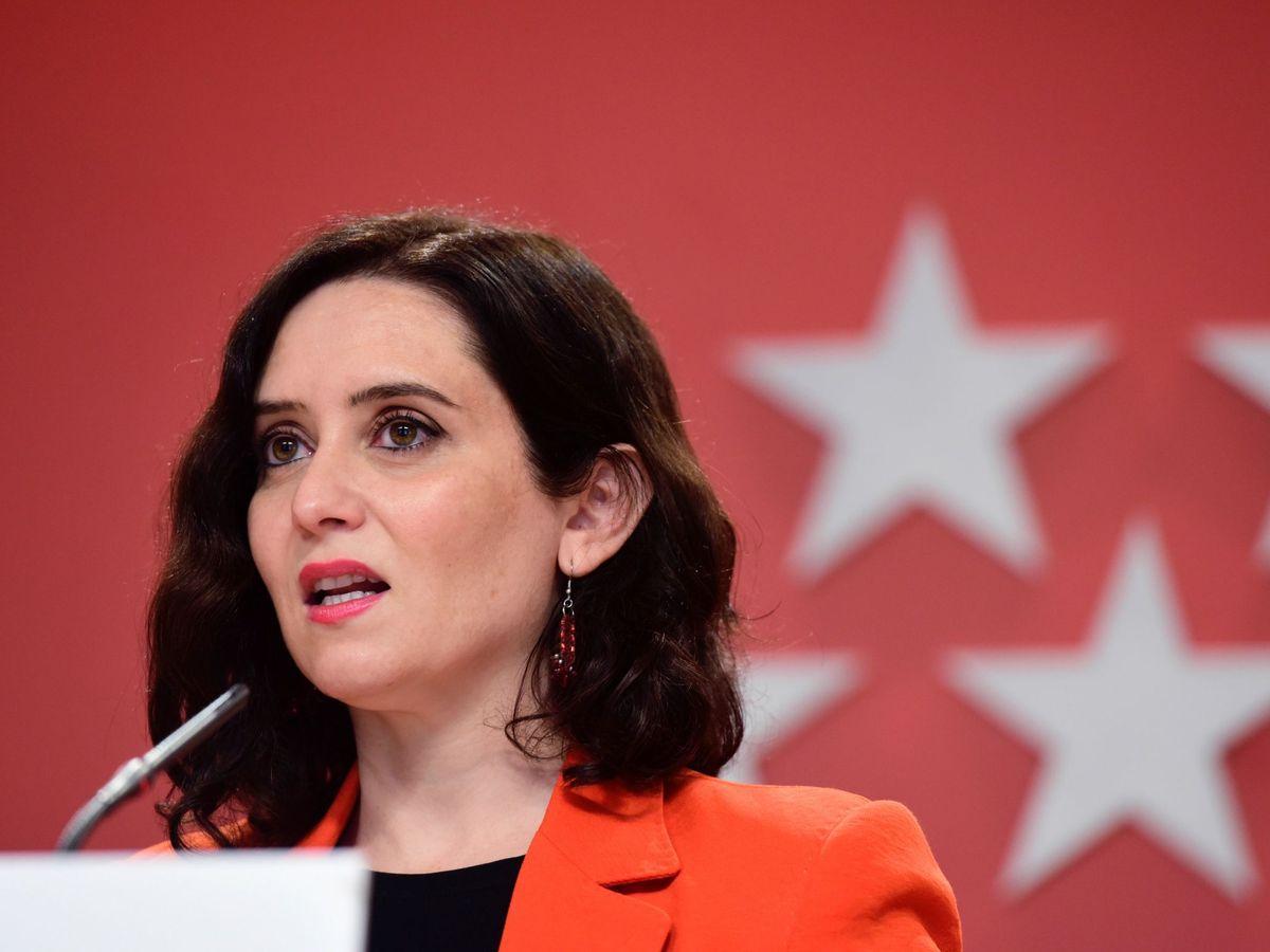 Foto: Isabel Díaz Ayuso durante una rueda de prensa. (EFE)