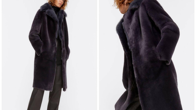 El abrigo más lujoso de Uterqüe. (Cortesía)
