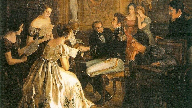 Pedro de Braganza, componiendo el himno de la independencia de Brasil. (CC)