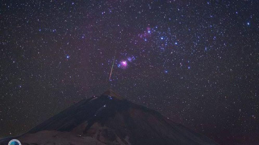 Foto: Lluvia de estrellas vista desde el Observatorio del Teide | EFE