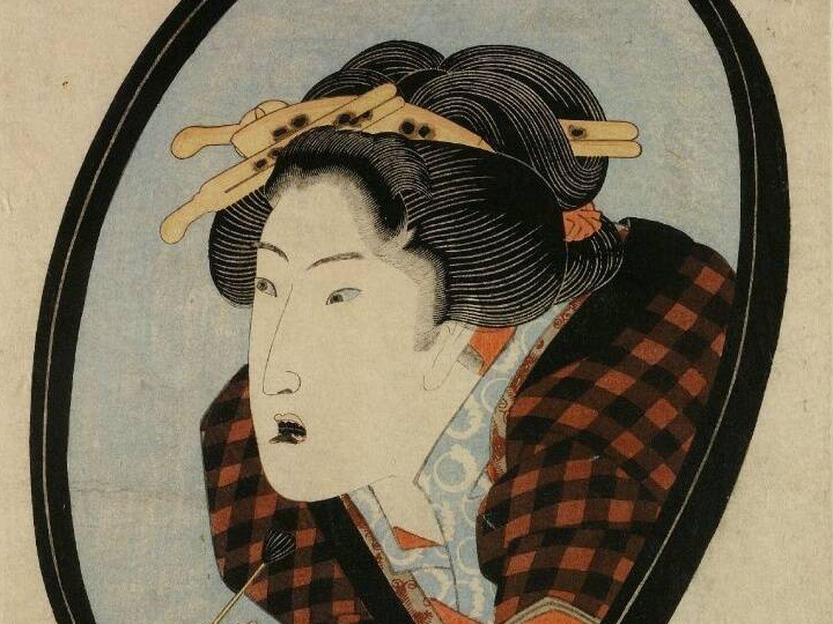 Foto:  'Ennegrecido de dientes' de Utagawa Kunisada.