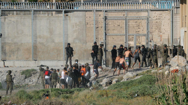 Frontera de Ceuta con Marruecos. (Reuters)
