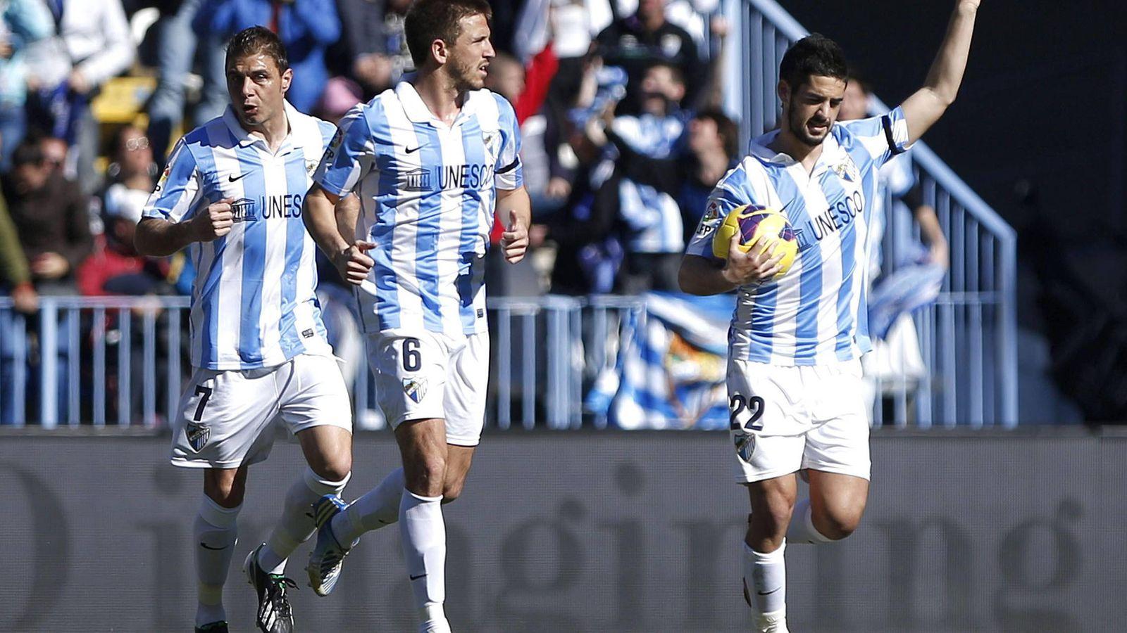 Foto: Ignacio Camacho e Isco durante un partido con el Málaga (EFE)