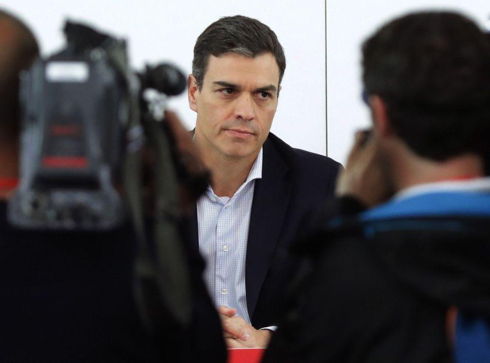 Foto: Pedro Sánchez, el pasado 25 de mayo en la reunión de la ejecutiva del PSOE en Ferraz. (EFE)