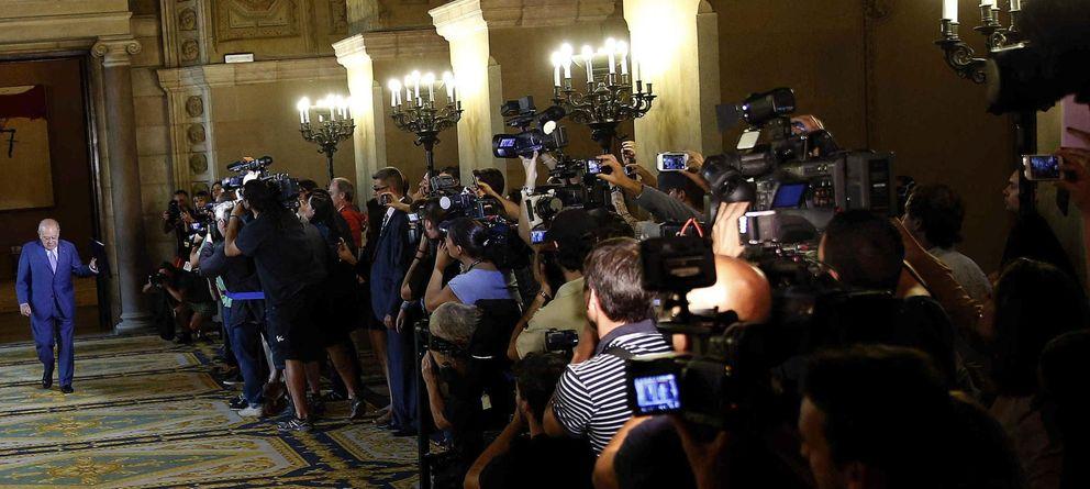 Foto: Jordi Pujol antes de su comparecencia en el Parlament