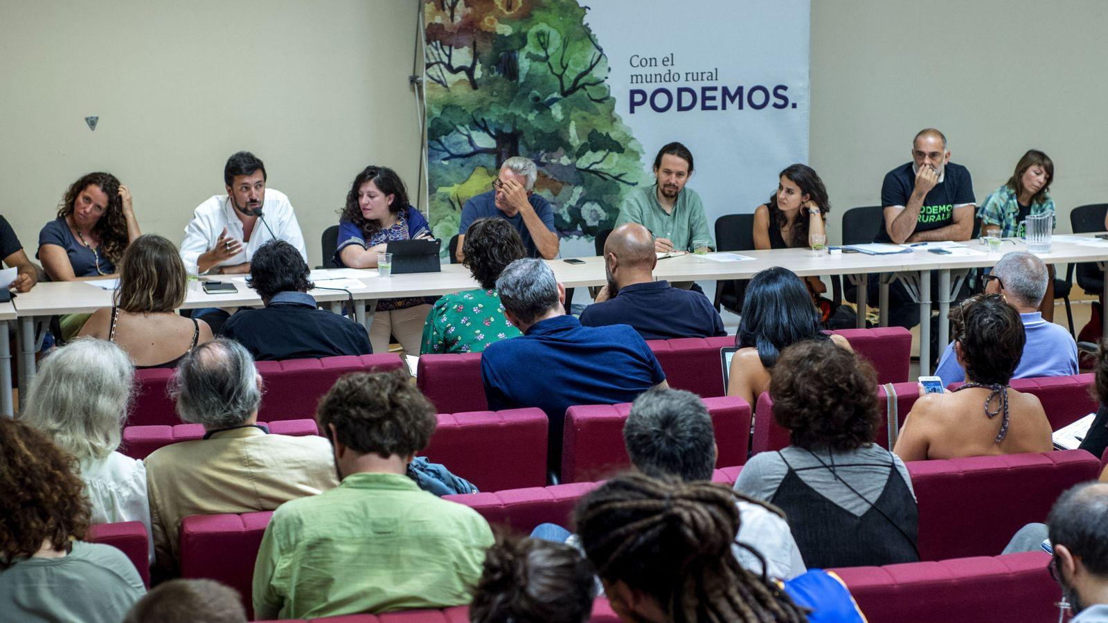 Foto: Última reunión del consejo ciudadano estatal (CCE) de Podemos, celebrado el pasado mes de julio en Toledo. (EFE)