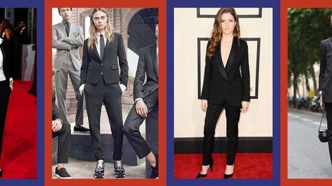 ¿Qué tienen en común Jennifer Aniston, Angelina Jolie o Cara Delevingne? ¡El esmoquin!