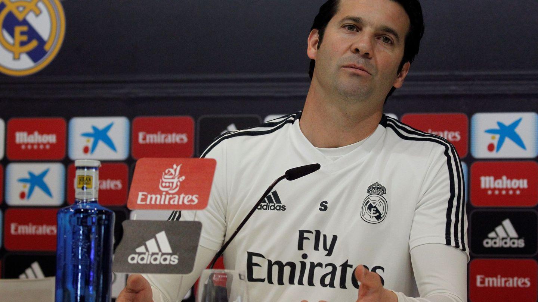 El entrenador argentino del Real Madrid, Santiago Solari, este sábado. (EFE)