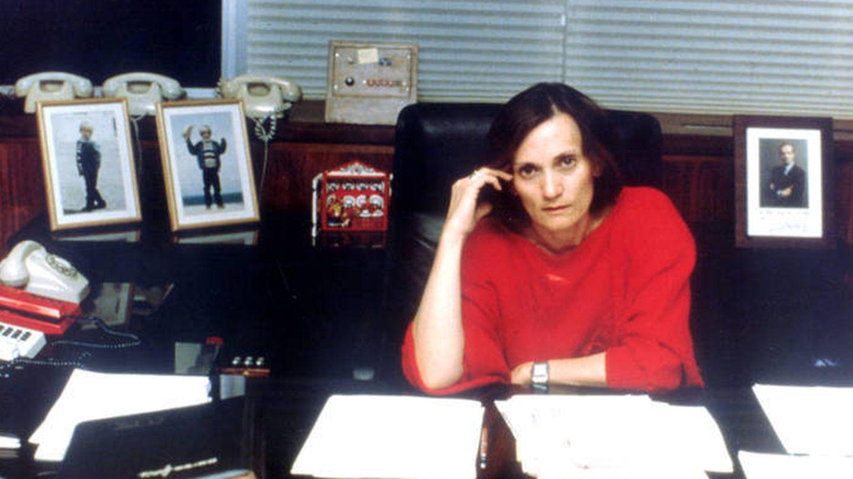 Pilar Miró, en su despacho. (TVE)
