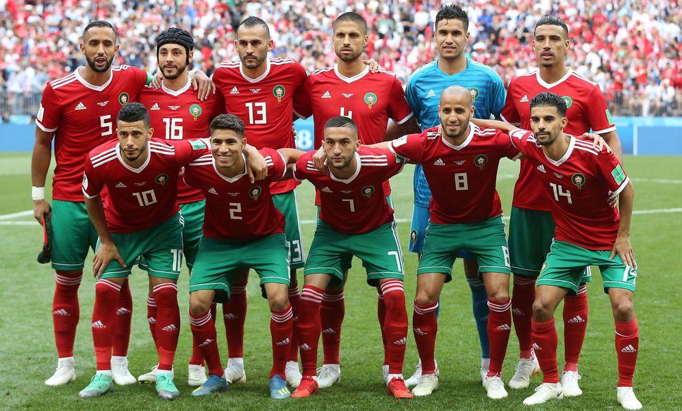 Foto: La selección de Marruecos posa antes del partido ante Portugal. (EFE)