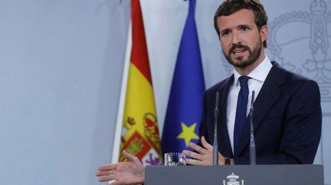 Casado frena presiones del PP para romper con Sánchez por no ir contra Torra