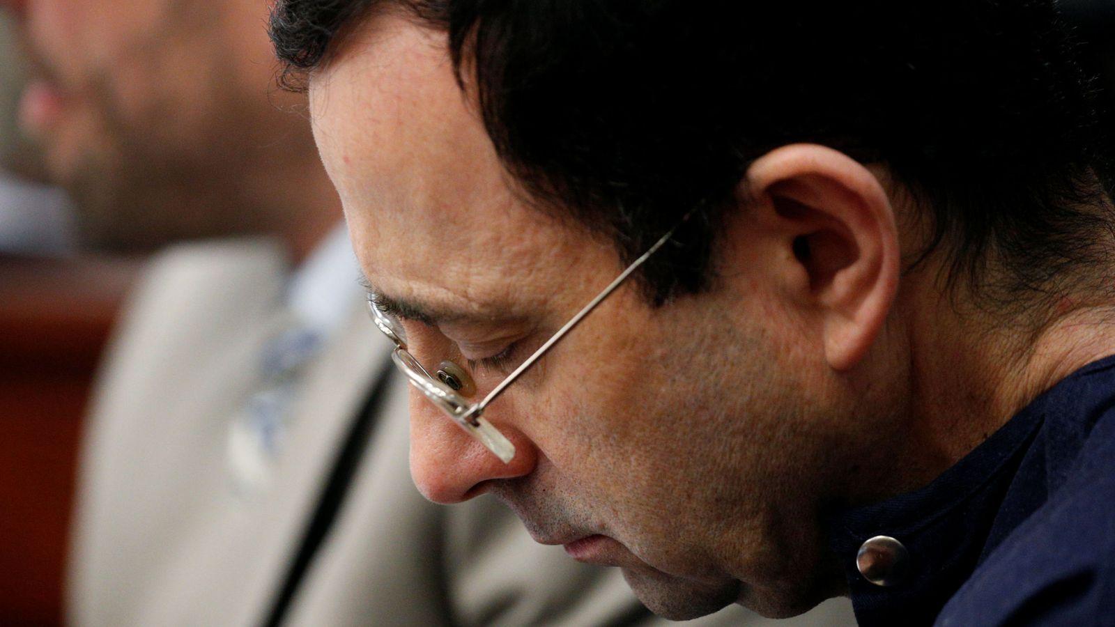 Foto: En la imagen, Larry Nassar durante el juicio. (Reuters)