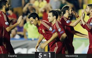 Cinco goles como terapia para olvidar el Mundial de Brasil