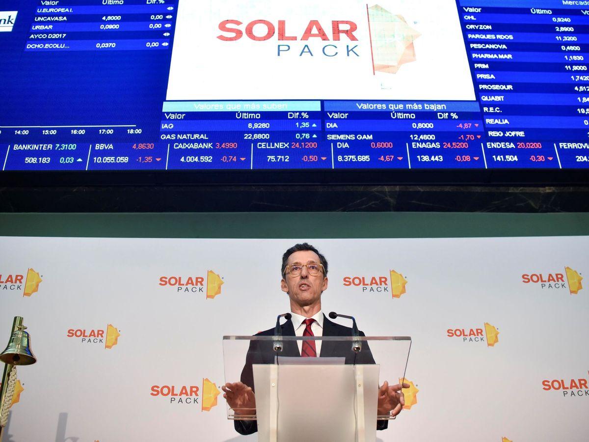 Foto: Salida a bolsa de Solarpack. (EFE)