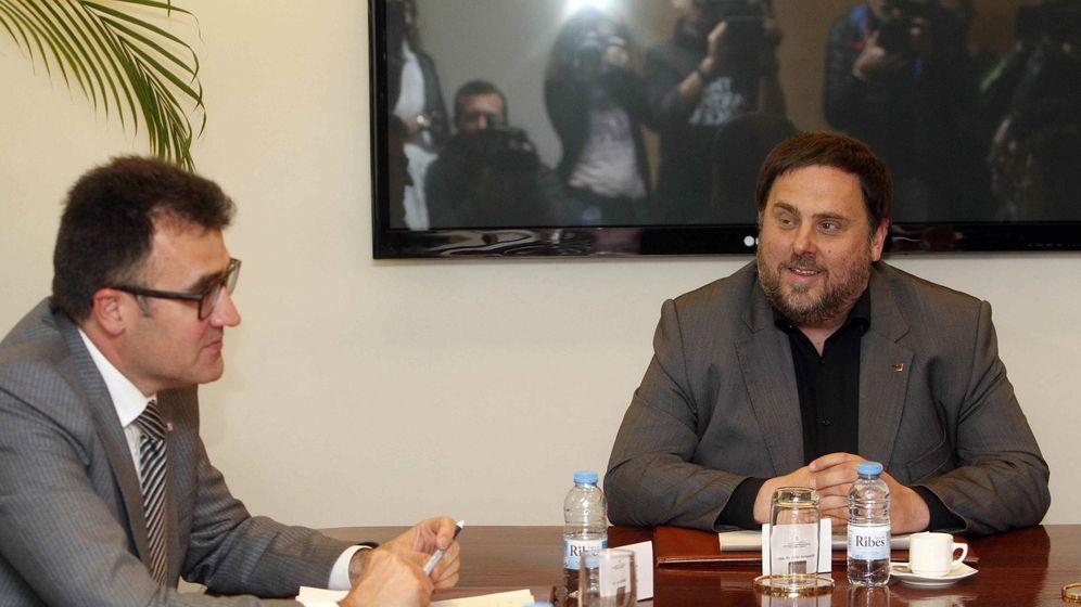 Foto: Oriol Junqueras, a la derecha, con Lluis Salvadó