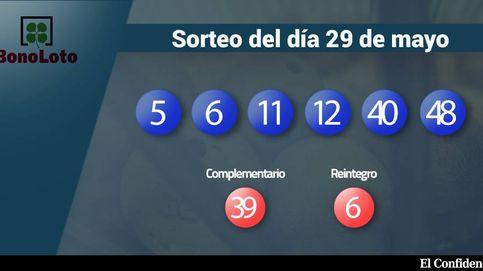 Resultados de la Bonoloto del 29 mayo 2017: números 5, 6, 11, 12, 40, 48