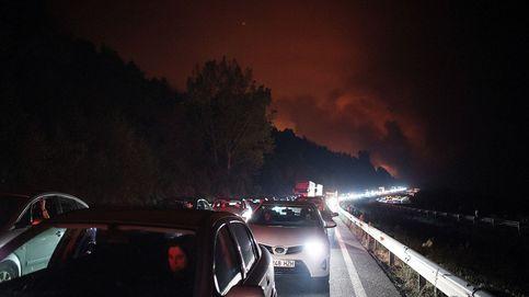 Incendios en Galicia: cortado el tren entre Vigo y Ourense y el tráfico en la A-52