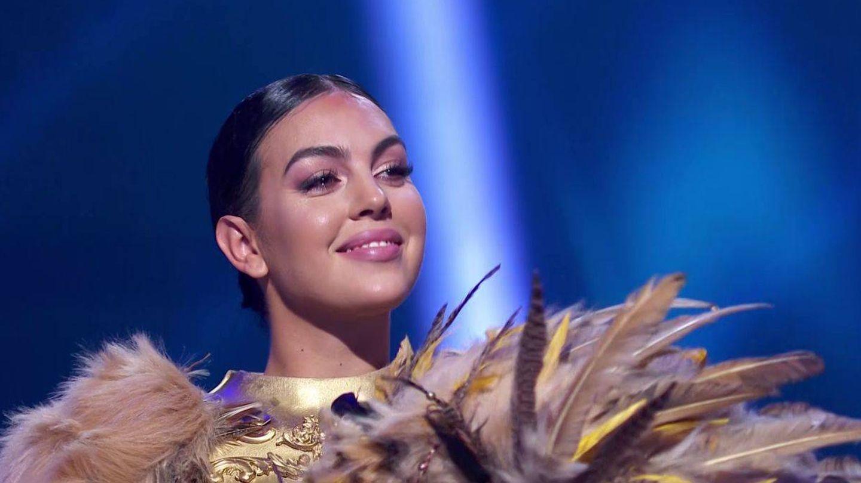 Georgina Rodríguez, tras descubrirse que estaba detrás del león en 'Mask Singer'. (Antena 3)