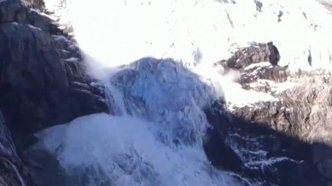 Espectaculares imágenes del colapso de un glaciar en Suiza