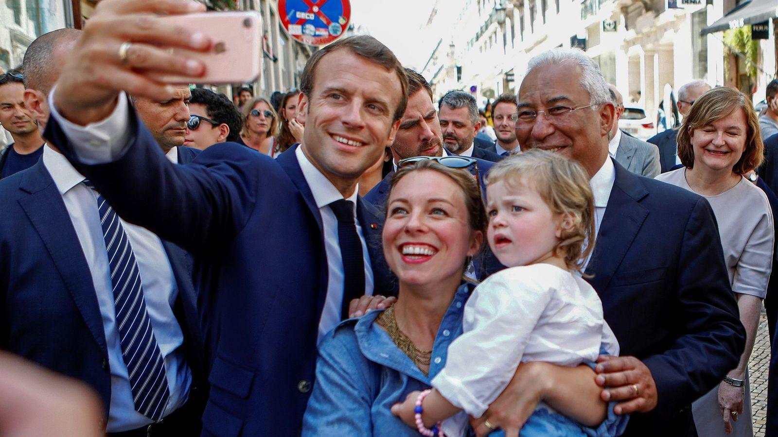 Foto: Emmanuel Macron y Antonio Costa. (EFE)