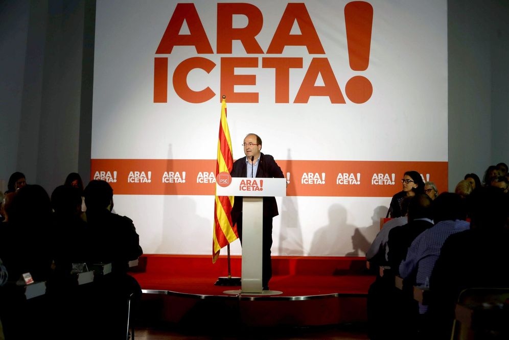 Foto: Miquel Iceta, este 10 de noviembre durante la reunión del consell nacional del PSC, en Barcelona. (EFE)