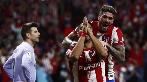 Luis Suárez consuma su venganza contra Koeman en el recital de Joao Félix (2-0)