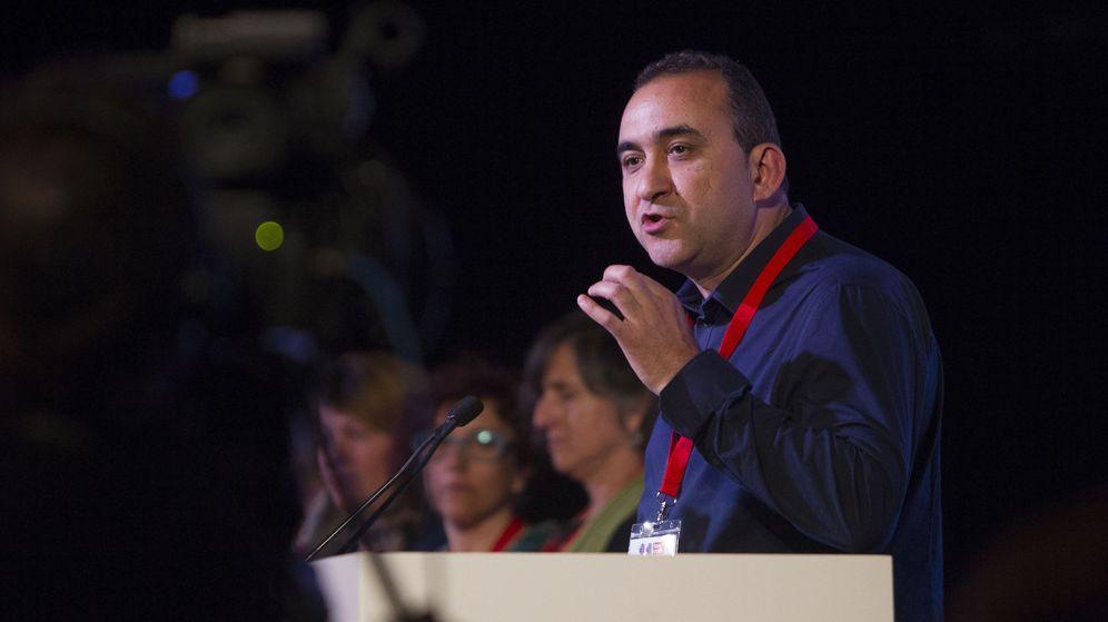 Foto: El líder de CCOO de Cataluña, Javier Pacheco. (EFE)
