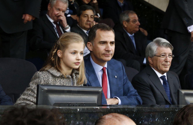 Foto: Así vivió la princesa de Asturias su debut en el fútbol