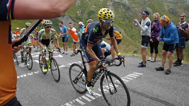 Foto: Valverde se emocionó al cruzar la meta (Reuters).