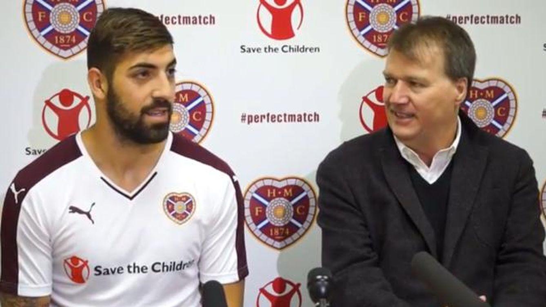 De escapar de Grecia a ser el líder en Escocia, Juanma Delgado ya es el 9 del Hearts