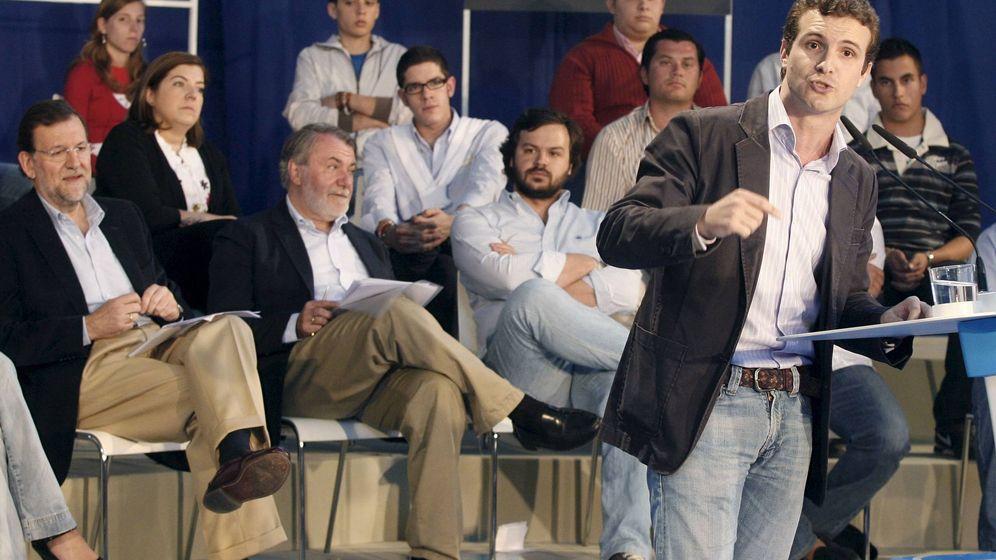 Foto: Pablo Casado y Mariano Rajoy en una imagen de archivo. (Efe)