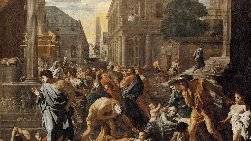 Foto: 'Los filisteos golpeados por la peste', de Nicolas Poussin. (1631)