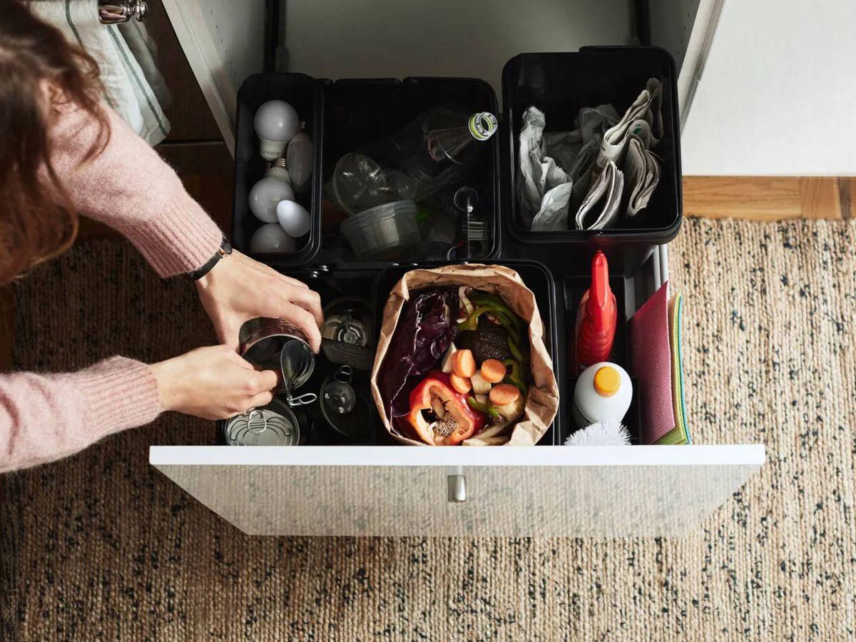 Foto: Soluciones sencillas para reciclar de Ikea. (Cortesía)