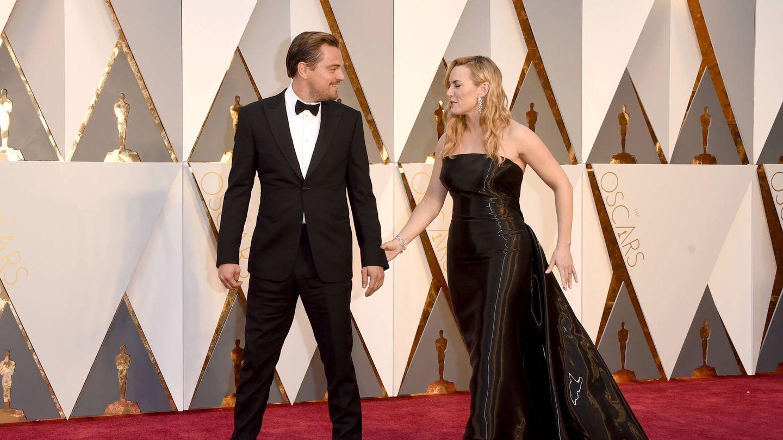 Leonardo DiCaprio y Kate Winslet, en los Oscar de 2016. (Getty)