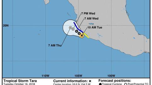 La tormenta 'Tara' se aproxima a costas mexicanas