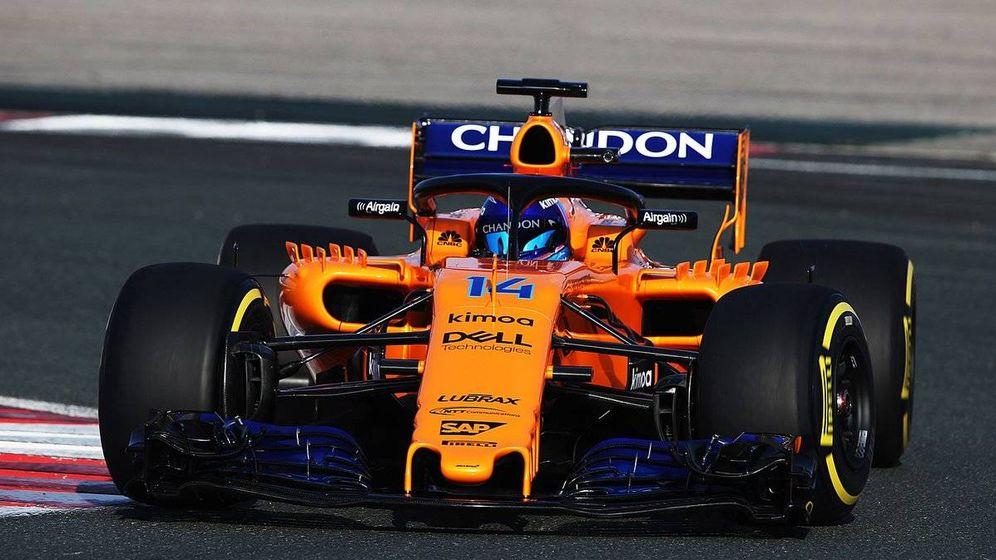 Foto: El nuevo McLaren rodando en el Circuito de Navarra el pasado viernes. (FOTO: McLaren)