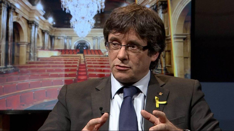 Puigdemont, durante la entrevista en TV3.