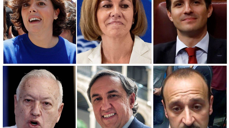 Los seis precandidatos del PP. (EFE)