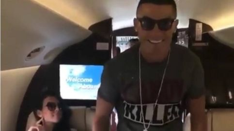 Cristiano Ronaldo se pone sexy con un baile para conquistar a Georgina en su jet