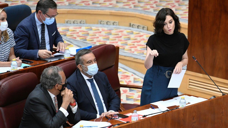 Ayuso, en la Asamblea de Madrid. (EFE)