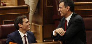 Post de Cs propone un debate en televisión entre Albert Rivera y Pedro Sánchez