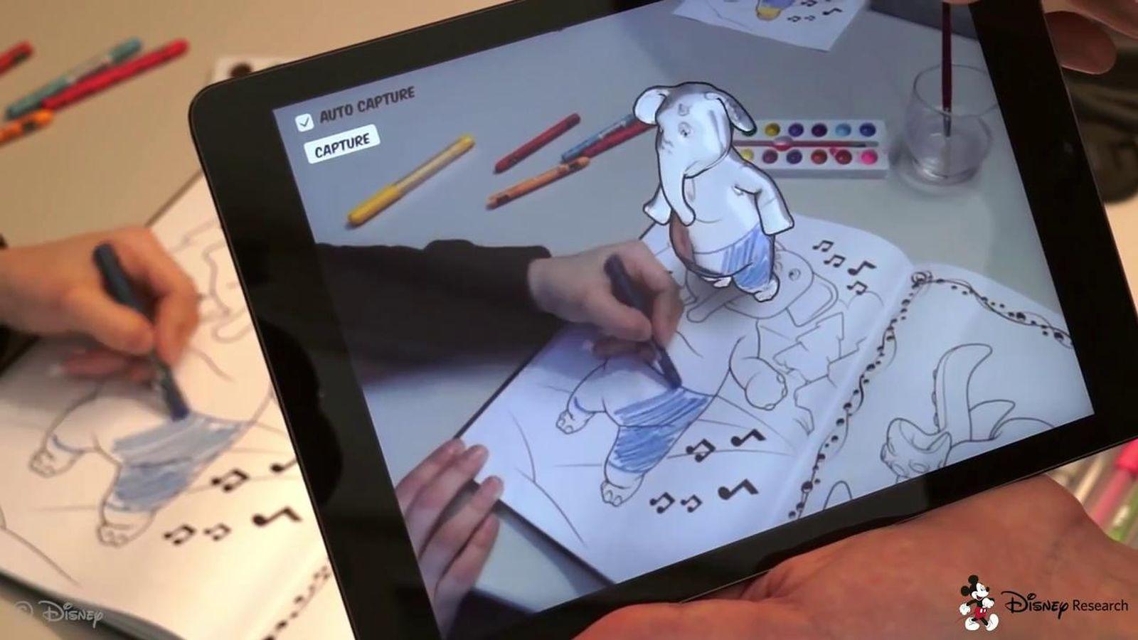 Disney reinventa los libros de dibujo con realidad aumentada