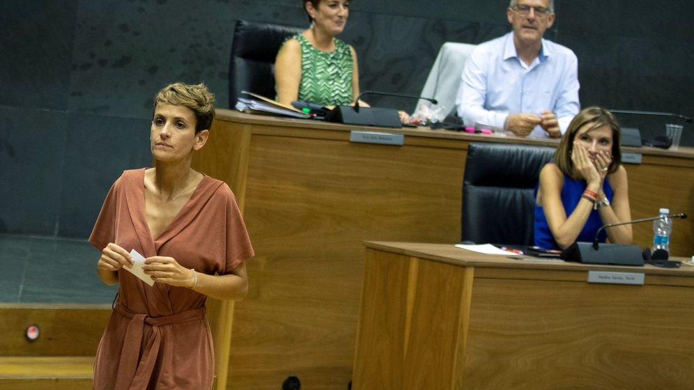 Foto: La socialista María Chivite en el Parlamento de Navarra. (EFE)